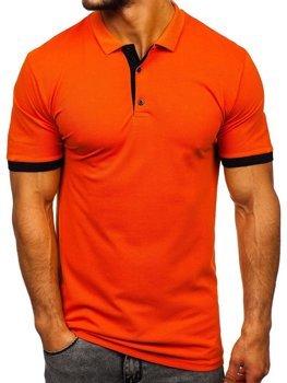 Koszulka polo męska pomarańczowa Bolf 171222-1