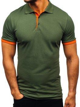 Koszulka polo męska zielona Bolf 171222