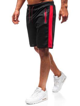 Krótkie spodenki dresowe męskie czarne Denley 81003