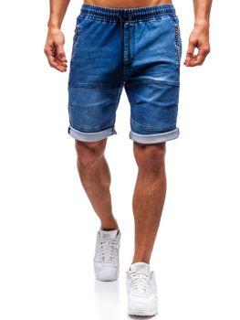 Krótkie spodenki jeansowe męskie granatowe Denley HY188