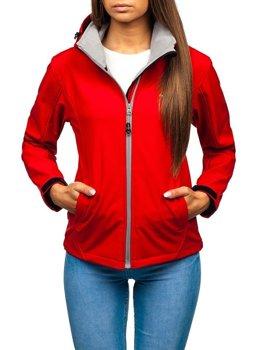 Kurtka damska przejściowa softshell czerwona Denley AB056
