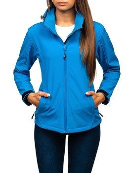 Kurtka damska przejściowa softshell niebieska Denley AB056