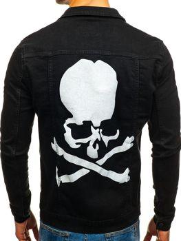 Kurtka jeansowa męska czarna Denley 2052