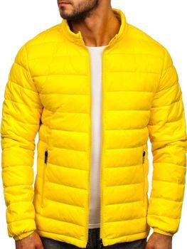 Kurtka męska przejściowa pikowana żółta Denley 1119