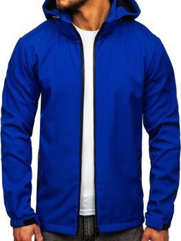 Kurtka męska przejściowa softshell niebieska Denley 56008