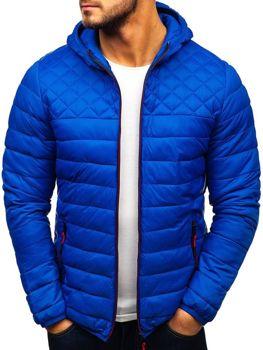 59472254beef4 Kurtka męska przejściowa sportowa niebieska Denley LY1010