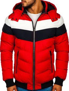 Kurtka męska zimowa czerwona Denley 5808