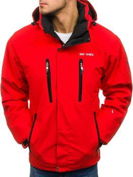 Kurtka męska zimowa narciarska czerwona Denley 2283