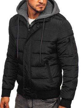 Kurtka męska zimowa sportowa czarna Denley JK386