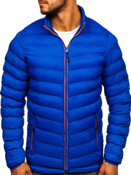 Kurtka męska zimowa sportowa niebieska Denley SM71