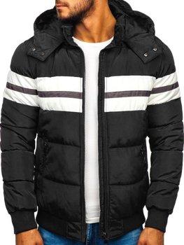 Kurtka męska zimowa sportowa pikowana czarna Denley JK397