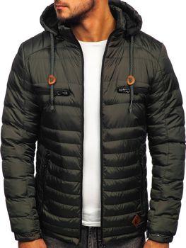 Kurtka męska zimowa sportowa pikowana khaki Denley 50A94
