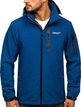 Niebieska kurtka męska softshell Denley BK067