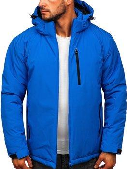 Niebieska narciarska kurtka męska zimowa sportowa Denley HH011
