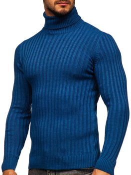Niebieski sweter męski golf Denley 4602