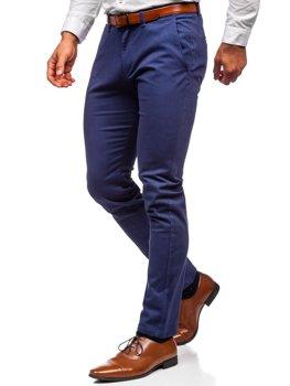 Niebieskie spodnie chinosy męskie Denley 1143