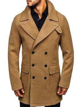 Płaszcz męski zimowy camelowy Denley 1048