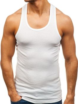 Podkoszulek męski bez nadruku biały Denley C10013-A