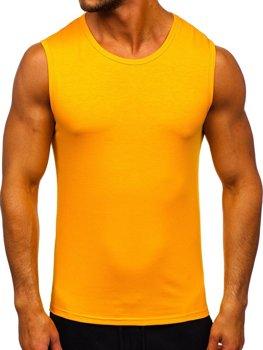 Pomarańczowa koszulka tank top bez nadruku Denley 99001