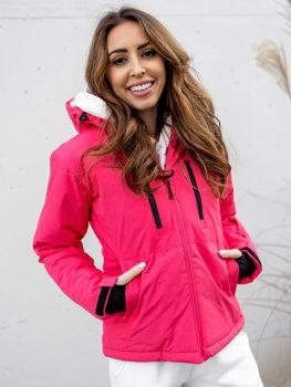 Różowa kurtka zimowa narciarska damska Denley HH012