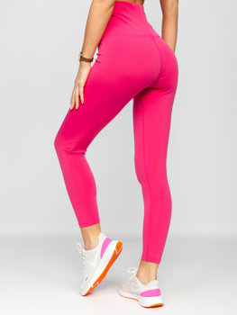 Różowe legginsy damskie Denley HH040