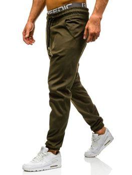 Spodnie baggy męskie zielone Denley 0399