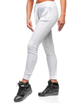 Spodnie dresowe damskie białe Denley WB11003-A