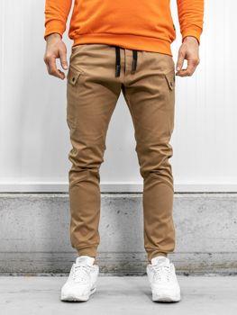 Spodnie joggery męskie camelowe Bolf 11103