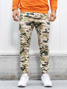 Spodnie joggery męskie moro-beżowe Bolf 0367