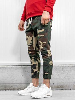 Spodnie joggery męskie moro-brązowe Bolf 0367