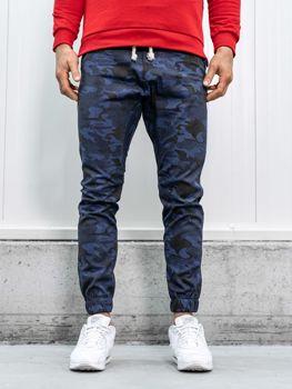 Spodnie joggery męskie moro-granatowe Bolf 0367