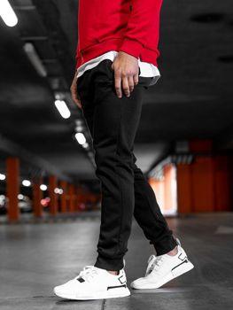 Spodnie męskie dresowe czarne Denley XW03