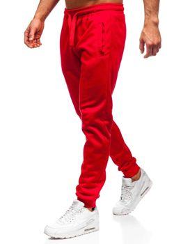 Spodnie męskie dresowe czerwone Denley JZ11001