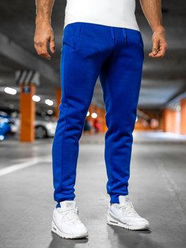 Spodnie męskie dresowe kobaltowe Denley XW01