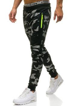 Spodnie męskie dresowe moro-czarne Denley ML225
