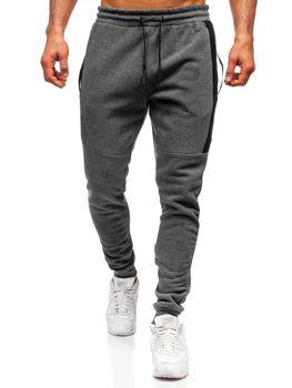 Spodnie męskie dresowe szare Denley JX8967-2