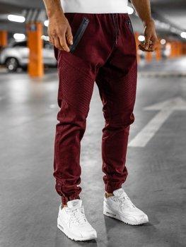 Spodnie męskie joggery bordowe Bolf 0952