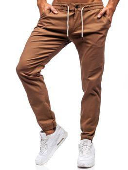 Spodnie męskie joggery camelowe Denley 1121