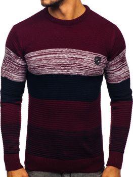 Sweter męski bordowy Denley 4000