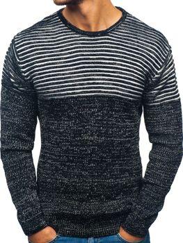 Sweter męski czarno-biały Denley 156