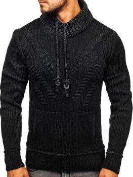 Sweter męski czarny Denley 20012