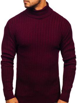 Sweter męski golf bordowy Denley 315