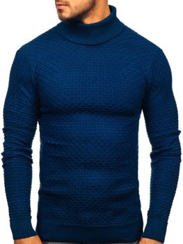 Sweter męski golf niebieski Denley 322