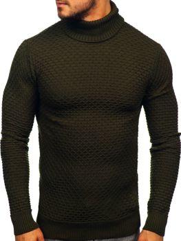 Sweter męski golf zielony Denley 322