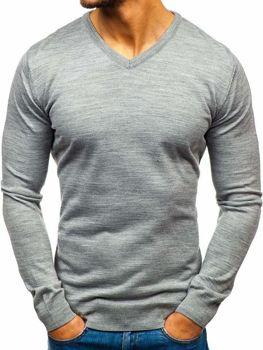 Sweter męski w serek szary Denley 2200