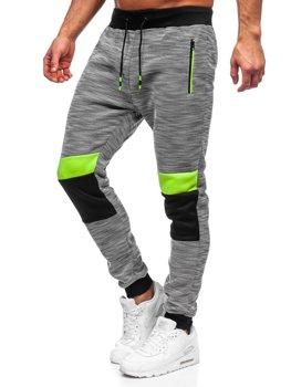 Szare dresowe spodnie męskie Denley K60022