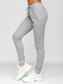 Szare spodnie dresowe damskie Denley CK-01