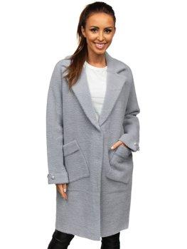Szary płaszcz damski Denley 20737