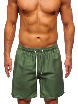 Zielone krótkie spodenki kąpielowe męskie Denley ST003