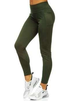 Zielone legginsy damskie Denley YW06002